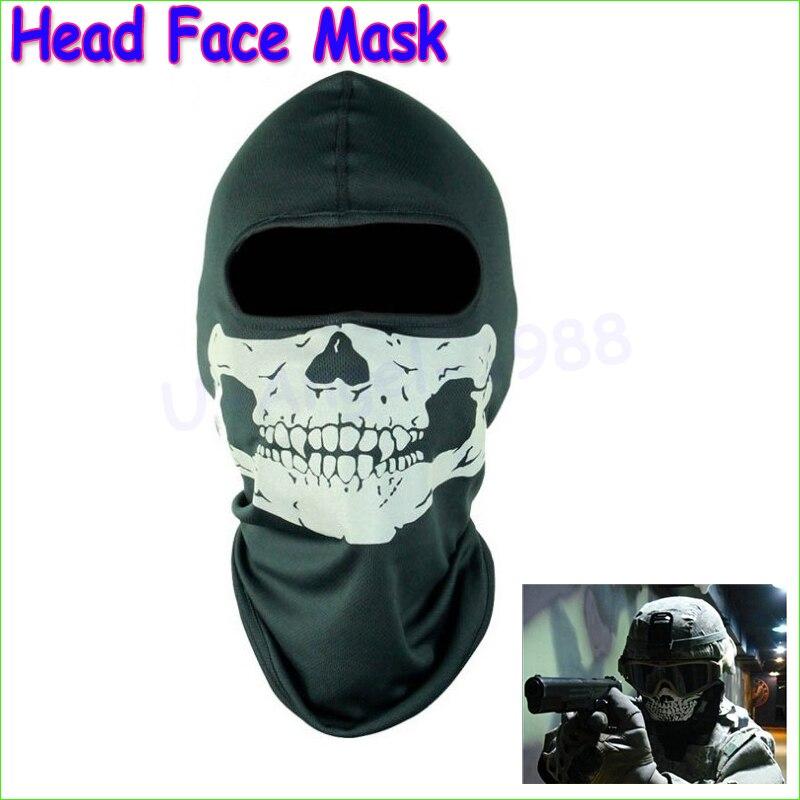 1pcs New Head Face Mask Skull Balaclava Head Mask Gator Black Hood Wholesale
