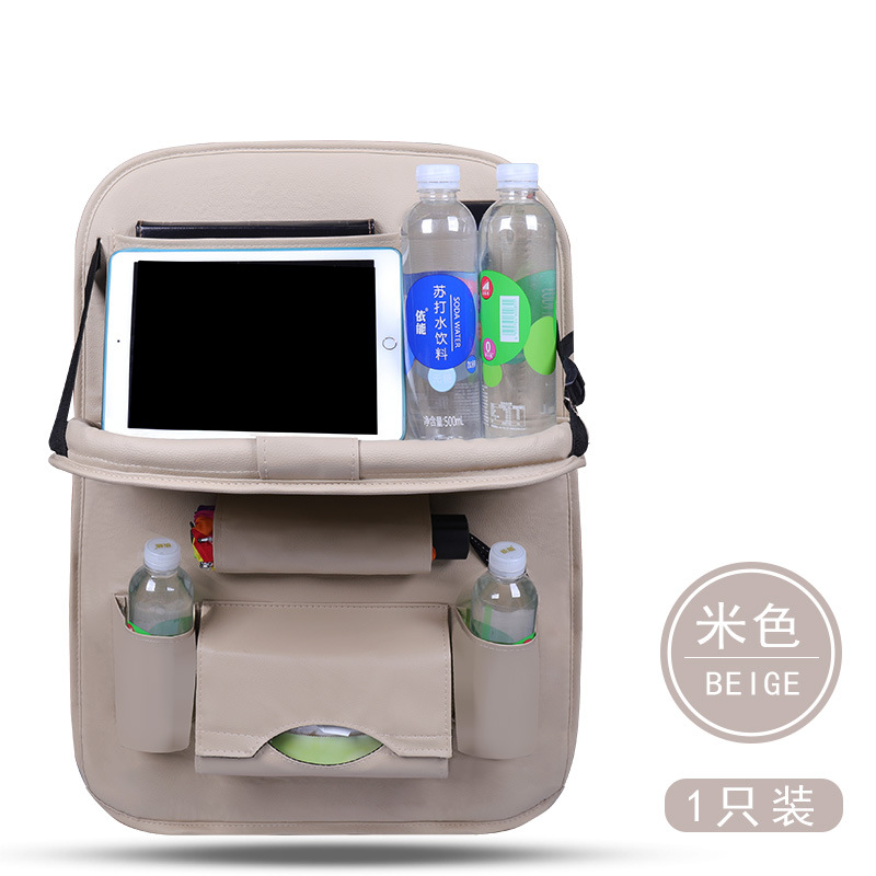 New Upgraded Car Seat Back Organizer Storage Bag Folding Table Tissue Box Bottle Drink Holder Auto Styling Storage Bag in Stowing Tidying from Automobiles Motorcycles