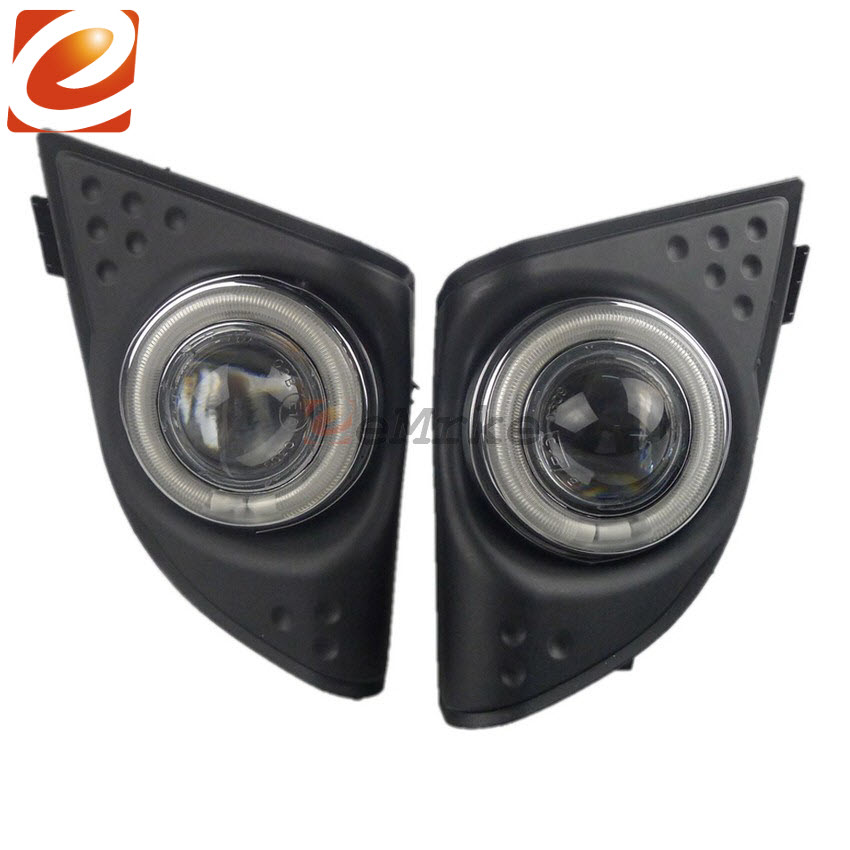 eeMrke COB Angel Eyes DRL For Honda Accord JDM European H11 30W Bulbs LED Fog Lights Daytime Running Lights Tagfahrlicht Kits eemrke cob angel eyes drl for lexus ct220h ct 200h f sport 30w bulbs led fog lights daytime running lights tagfahrlicht kits
