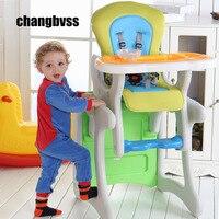 Ребенка стул для кормления стульчик отделимые стул стол многофункциональный детская высокой кормления ужин стул стол Бесплатная доставка