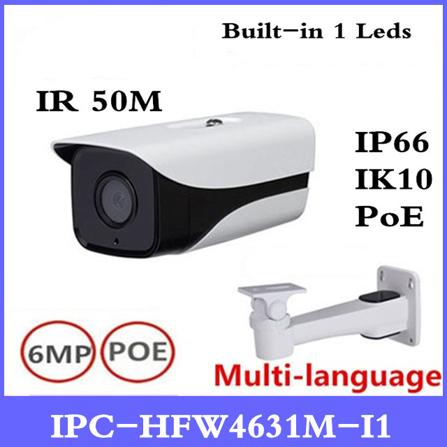 DH IPC-HFW4631M-I1 6MP IP Camera IR50M IP67 POE CCTV camera replace IPC-HFW4431M-I1 outdoor camera with bracket все цены