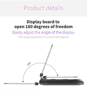Image 4 - 2in1 HUD Car Wireless Charger Mount Car Phone GPS Navigation Holder Stand Projector Bracket Support QI Fast Charging for iPhone