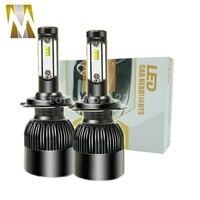 2Pcs Super Bright H4 All In One C6 Car Led Headlight H8 H9 H11 Led Bulb