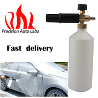 Precision Auto Labs Foam Lance Snow Cannon Pressure Washer Gun Car Foamer Wash Quick Adapter Jet with gun, with connector
