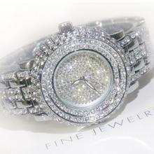 2016 Venta Caliente de Las Mujeres Relojes Lady Diamond Piedra Rhineston Vestido Reloj de Oro de Plata de Acero Inoxidable Reloj de Pulsera Mujer Reloj Cristalino