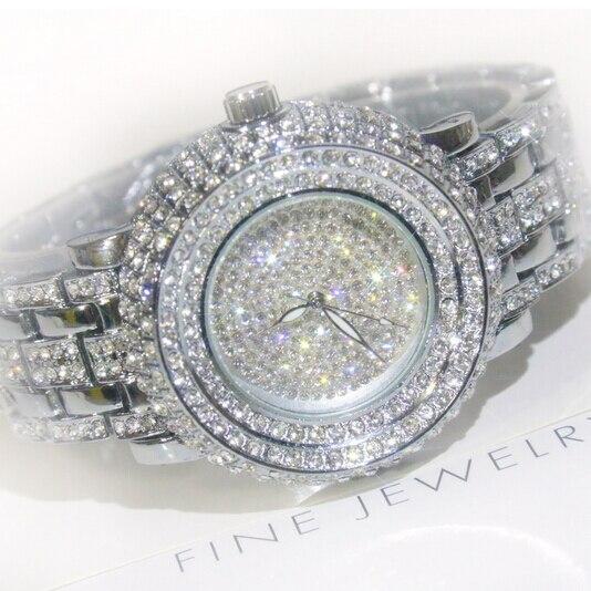 2017 vente chaude femmes montres dame diamant pierre robe montre or argent acier inoxydable. Black Bedroom Furniture Sets. Home Design Ideas
