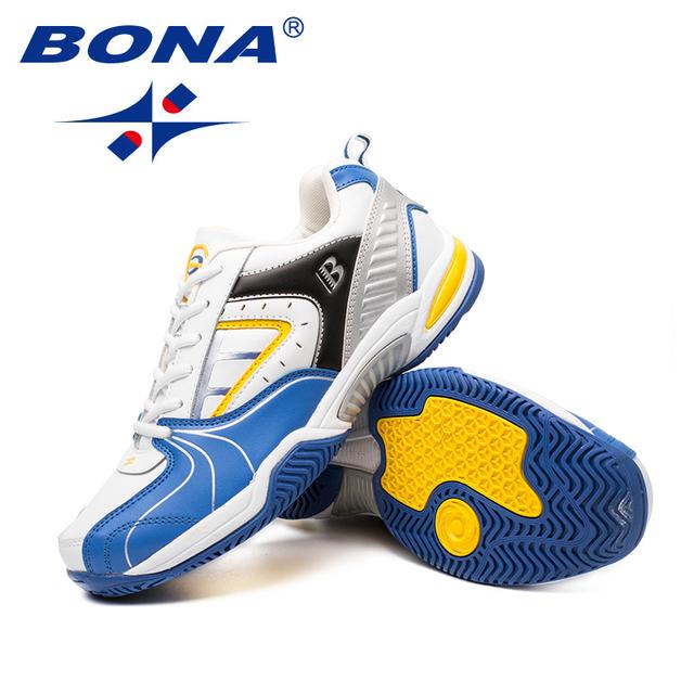 Nueva llegada de BONA zapatos de tenis de hombre de estilo clásico con cordones para hombres zapatos atléticos para correr al aire libre cómodos envío gratis