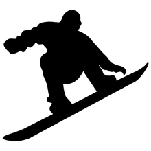 CS-934#18*20cm Snowboarder 2 funny car sticker vinyl decal silver/black for auto stickers styling decoration