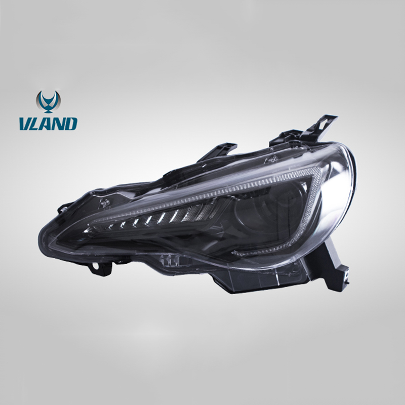 Vland Factory Car Accessories Head Lamp for Toyota GT86 2012-UP&FT86 BRZ 2013-UP LED Head Light with Sequential Indicator