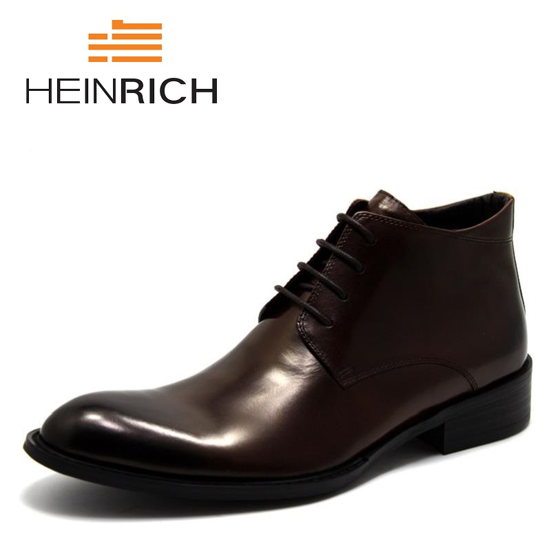 HEINRICH 2018 Men Leather Casual Shoes Leather Brand Shoes Work Safety Boots Designer Men Flats Shoes Chaussure Homme Hiver amaginmni men genuine leather casual shoes leather brand men shoes work safety boots designer men flats men work