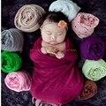 0-24 Meses Do Bebê Envoltório Rayon Cobertores Recém-nascidos Fotografia Envolto Em Pano Adereços Fotografia de Recém-nascidos + Flor Cocar