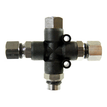"3-Way Airbrush Air Hose Splitter Manifold With 1/8"" Fittings And Plugs For Makeup Body Paint Nail Art Airbrush"