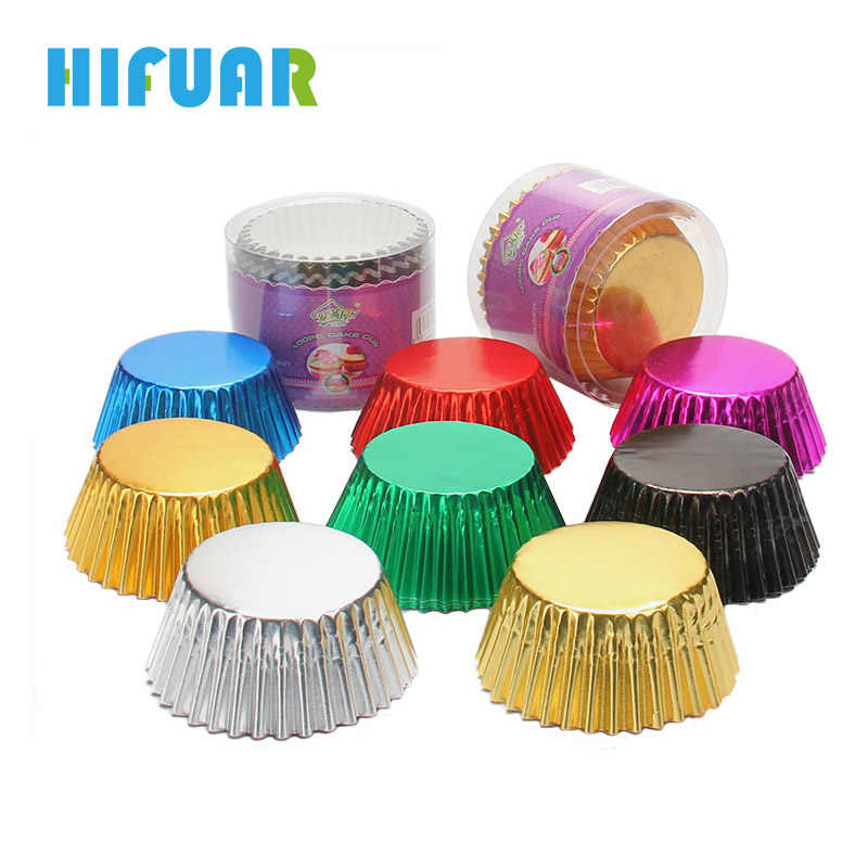 Hifuar 100Pcs/Set Thicken Cake Decoration Tools Muffin Cupcake Paper Cups Liner Baking Party Tray Cake Mold Kitchen Accessories