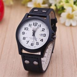 2018 New Fashion Simple Leather Round Case Women's Watch Fashionable Generous Watch Clock Gift Quartz Ladies Watch Watches