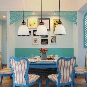 LukLoy Amerikanischen Land Küche Insel Anhänger Licht Esszimmer Set Von 3 Auf Bar Hängen Lampe Hanglamp Licht Leuchte Leuchte
