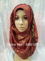 M1802 Professional Design Muslim Long Scarf Unique Muslim Scarf Top Gred Muslim Hijab Free Shipping
