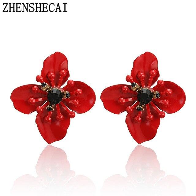 New Arrival Plant Metal Women Stud Earrings Sweet Romantic flower Earrings Fashion Jewelry Womens Accessories dropshipping