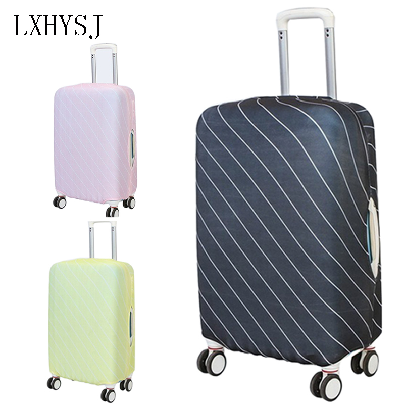 Travel Stripe Luggage Cover Elastic Luggage Protective Covers For 18-32 Inches Suitcase Case Baggage Cover Travel Accessories