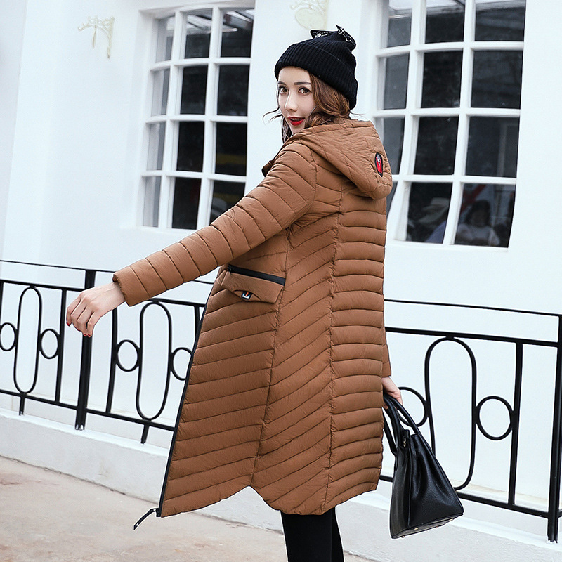 New Brand Ladies Light Down Jacket Autumn Womens down jackets Maternity Coat Waxed Duck Down Clothing Long With Big Hoody 2017