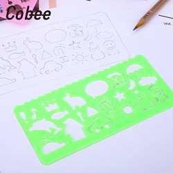 Пластик Спирограф правитель линейки для рисования Геометрическая линейка творческий мультфильм подарок