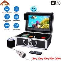 Рыболокаторы подводный Рыбалка Камера Wi Fi 10 ''1000tvl HD stardot Водонепроницаемый видео подводный Камера комплект с видео Запись