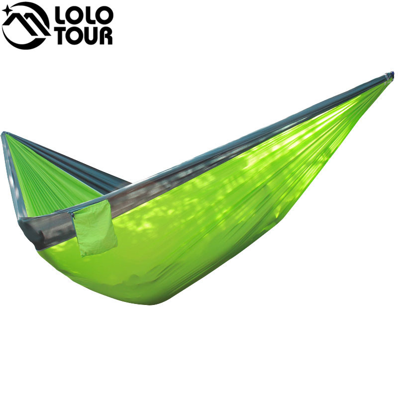 Ultra-Large 210T Hammock Hammock Double 2 Person Travel Camping - Mobiliário - Foto 6