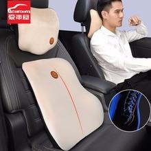 ICAROOM Automóvel Encosto De Cabeça Pescoço Travesseiro de Espuma de Memória de Alta qualidade Apoio Lombar Do Assento de Carro de Volta Lombar Almofada Almofadas Para A Condução