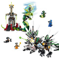 Lele 79132 ninja legoe ninjagoes armageddon epic batalha do dragão 959 pcs building block define diy brinquedos para as crianças