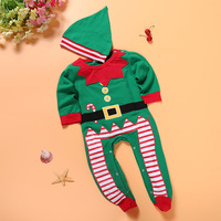 Multicolor MY First Christmas Newborn Baby Boy Girl Clothes Striped Long Pant 2Pcs Baby Boy Girl