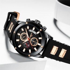 Image 4 - NIBOSI Relogio Masculino Men Watches Top Brand Luxury Unique Sport Watch Men Quartz Clock Waterproof Silicone Strap Montre Homme