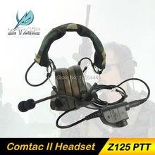 Z 041 Earphone Elemen Z-Taktis Comtac II Headset Airsoft Paintball Hunting Headset dengan Z125 Mendukung Standar PTT