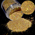"1/128"" Small Glitter Dust Laser Holographic Gold Nails Tips Dazzling Hexagon Nail Art and Glitter Crafts N47"