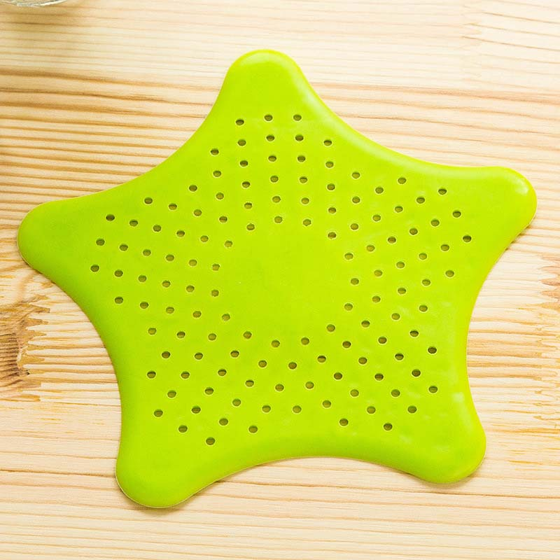 2pcs Star Shape Bathroom Drain Hair Catcher Bath Stopper