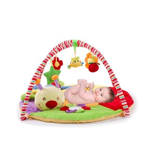 90 cm tapis de jeu enfants éducatifs dessin animé animaux modèles bébé jeu pad ramper tapis ramper couverture puzzle jouet fitness rack