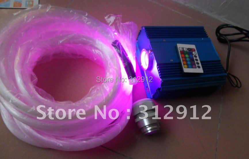1000pcs 0.75mm PMMA optical fiber in 4m length+45W IR RGB optical fiber engine,firber kit