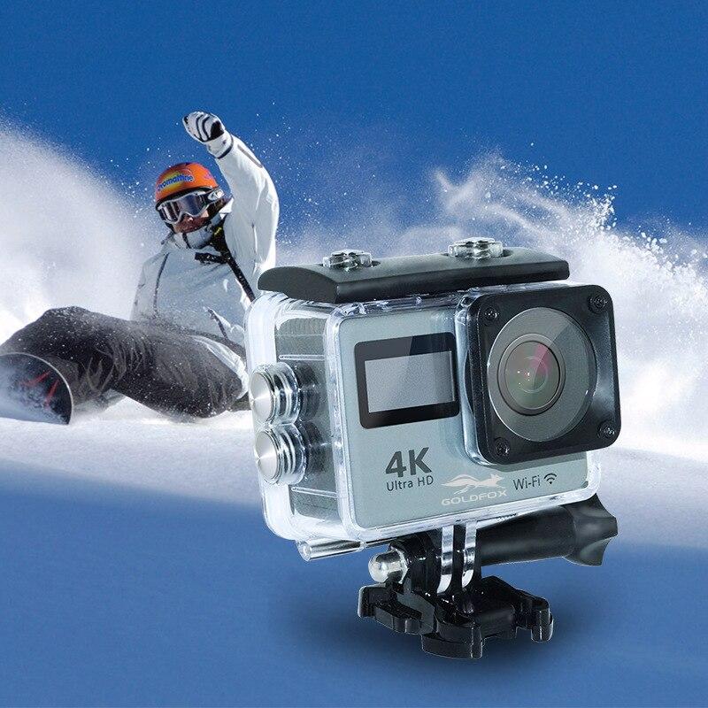 Caméra d'action Ultra HD 4 K LCD double écran de plongée étanche Pro Cam 1080 P Wifi caméra de Sport d'action avec télécommande