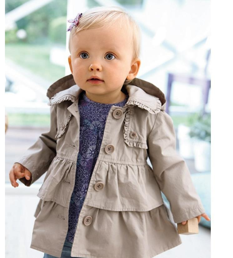 Free Shipping children baby girl spring autumn jackets coat fashion Girl Princess long coat kids girl