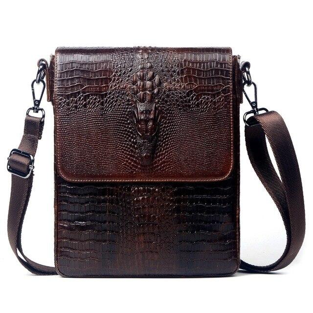 fd42f6be9ebd Пояса из натуральной кожи крокодила стиль курьерские Сумки для мужчин  crossbody сумка коровьей мужской ipad планшеты