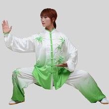 Customize Tai chi clothing wushu uniform kungfu performance garment Taiji sword suit for men women children girl boy kids adults