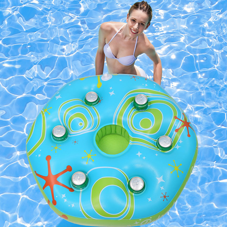 Floating pool bar - 2017 New Inflatable Ice Bucket Pool Float Pool Inflatable Toys Water Bar Inflatable Ice Bucket Table