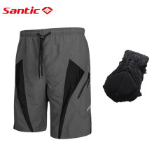 Santic 3D Padded Coolmax Loose Fit Men`s Cycling Shorts W/ Inner Underwear Causal Leisure MTB Bicycle Bottoms M-4XL 5017