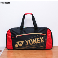 Large capacity Tennis Racket Bag Waterproof Nylon 2 3 Pcs Tennis Racquet Sports Bag PU Multi layer Badminton Racquet Sport Tote