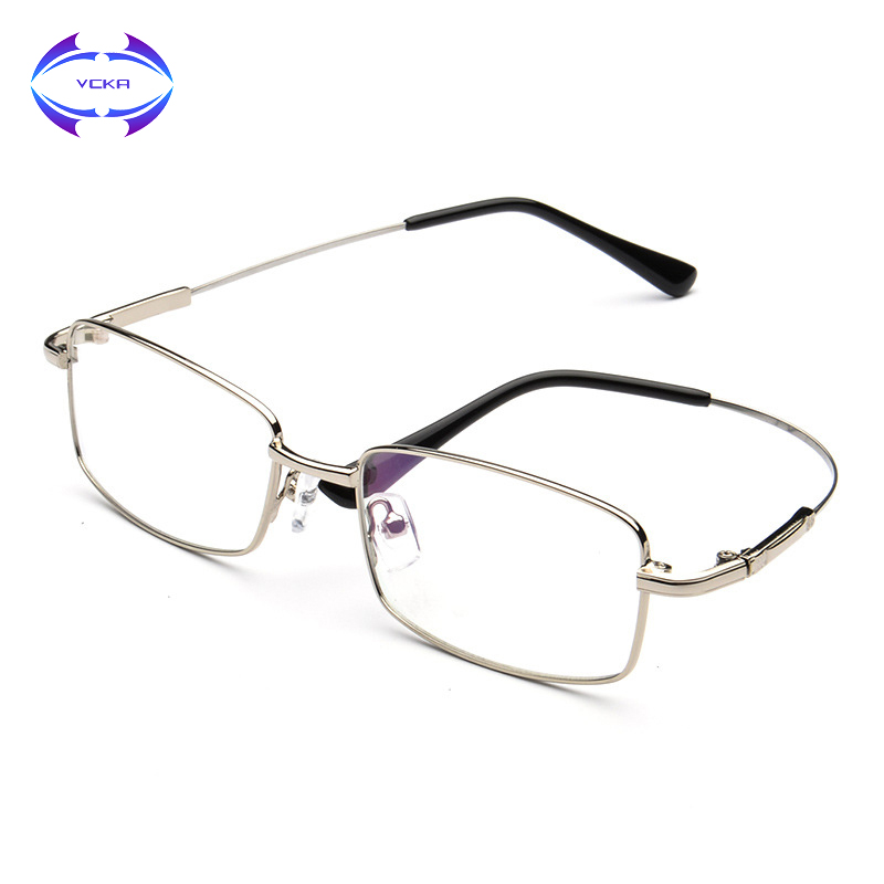 7b2acd1219 Detail Feedback Questions about VCKA Men Square Eyeglasses Frames Optical  Business Frame Mens Memory alloy Eyewear Brand Glasses suit Prescription  Lenses ...