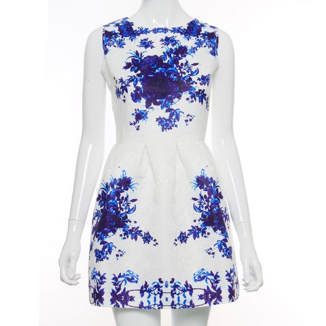 BEFORW Vintage Women Dress Spring Summer Fashion Print Dresses Sleeveless Sexy Mini Dress Vestidos de festa Women Clothing