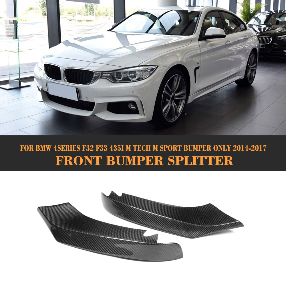 4 series carbon fiber front splitter bumper lip Spoiler for BMW F32 F33 435i M Sport Only 2014-2017 car-styling f32 f33 f36 carbon fiber rear bumper lip diffuser spoiler for bmw f32 f33 f36 420i 428i 435i 420d 428d 435d m tech m sport