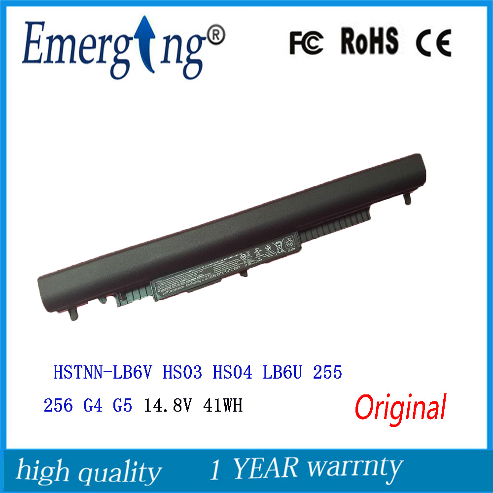 14.8V 41Wh New Original Laptop Battery for HP Pavilion 14-ac0XX HS03 <font><b>HS04</b></font> 15-ac121dx 255 245 250 G4 240 HSTNN-LB6U HSTNN-PB6T image