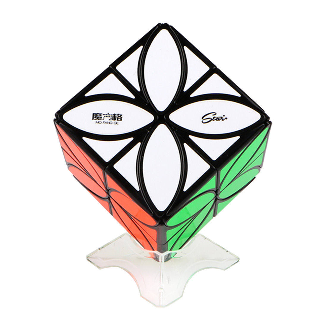 QiYi Mofangge Enhanced Version Four-leaf Clover Pattern Magic Cube Brain Teaser Puzzle Toys kinston four leaf clover pattern pu plastic case w stand for iphone 6 plus red silver