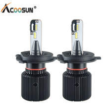 H4 H7 Led Fanless Car Headlight Bulbs PSX24W PSX26W H8 H9 H1 H13 9004 9007 12V Auto Light 6500K 8000Lm Led Fog Lamp Canbus Bulb(China)