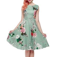 2018 Summer Party Dress Ladies Fashion Print Floral Midi Dresses Women Tropical Dress tropical print crisscross halter dress