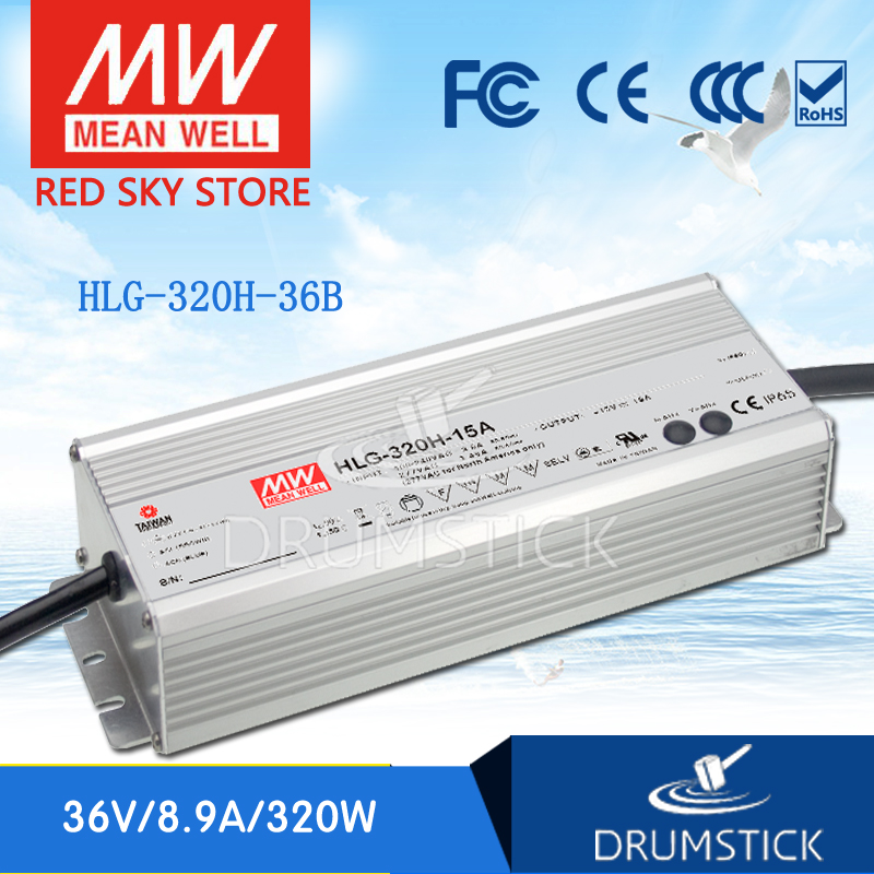 Genuine MEAN WELL HLG-320H-36B 36V 8.9A HLG-320H 36V 320.4W Single Output LED Driver Power Supply B type